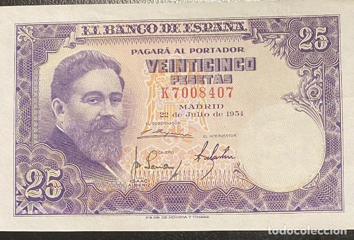 ESPAÑA, ESTADO ESPAÑOL, BILLETE DE 25 PESETAS DEL AÑO 1954 (Numismática - España Modernas y Contemporáneas - Estado Español)