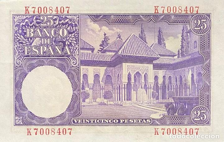 Monedas Franco: ESPAÑA, ESTADO ESPAÑOL, BILLETE DE 25 PESETAS DEL AÑO 1954 - Foto 2 - 243801740