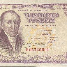 Monedas Franco: ESTADO ESPAÑOL, BILLETE DE 25 PESETAS DEL AÑO 1946. Lote 243802385