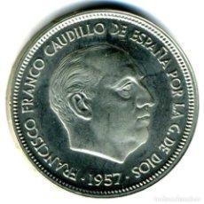 Monedas Franco: XS- FRANCO 50 PESETAS 1957 * 75 PROCEDENTE DE CARTERA PROOF. Lote 244436360
