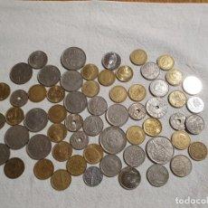 Monedas Franco: LOTE DE 60 MONEDAS - PESETAS FRANCO Y REY - MUY BUEN ESTADO. Lote 244437965