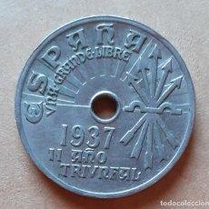 Monedas Franco: MONEDA DE 25 CTS - 1937 NIQUEL. Lote 244449345