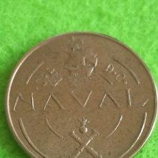 Monedas Franco: UNA PESETA DE 1948 NAVAL PRUEBAS DE LAS MÁQUINAS DE ACUÑAR EN TALLERES SAN CARLOS. SIN CIRCULAR.. Lote 242174575