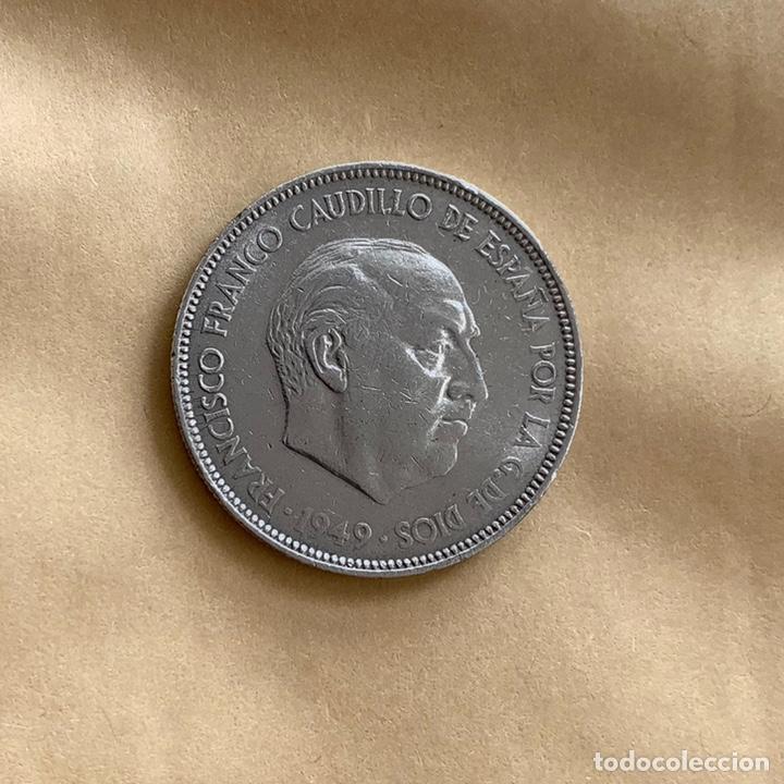 5 PESETAS DE FRANCO 1949 *XX *50 (REF. 49) (Numismática - España Modernas y Contemporáneas - Estado Español)