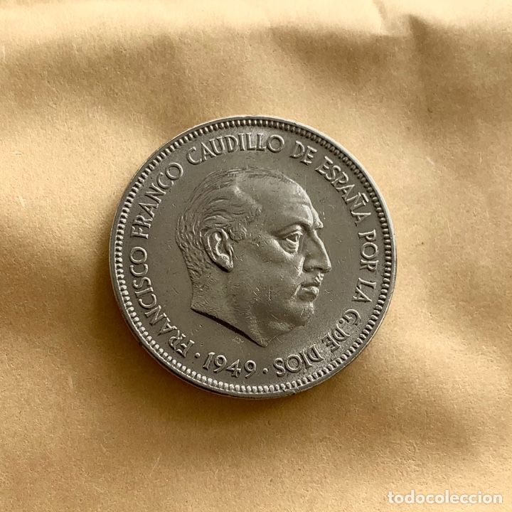 5 PESETAS DE FRANCO 1949 *19 *50 (REF. 50) (Numismática - España Modernas y Contemporáneas - Estado Español)