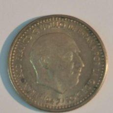 Monedas Franco: MONEDA DE 1 PESETA DE F. FRANCO 1947 *19*52 PLUS ULTRA FLOJA MBC. Lote 244785665