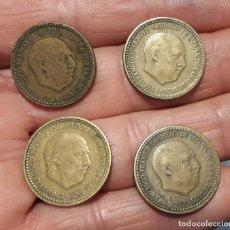Monedas Franco: 1 PESETA 1953. ESPAÑA. FRANCO. 4 MONEDAS. Lote 244903725