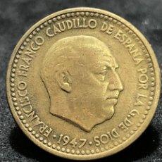 Monedas Franco: MONEDA DE 1 PESETA 1947 - EBC- *54. Lote 245503925
