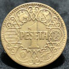 Monedas Franco: ESPLÉNDIDA MONEDA DE 1 PESETA DE 1944 - EBC. Lote 245504090