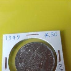 Monedas Franco: 5 PESETAS MODELO GRANDE ESPAÑA FRANCISCO FRANCO CAUDILLO ESPAÑA 1949*19*50 NUMISMÁTICA COLISEVM. Lote 245755820