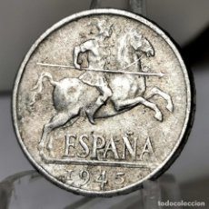 Monedas Franco: ⚜️AB427. 10 CÉNTIMOS 1945. Lote 245770230