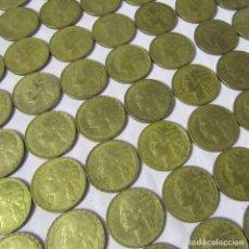 Monedas Franco: 93 MONEDAS DE 1 PESETA 1937. Lote 245986175