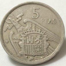 Monedas Franco: ESCASA MONEDA DE 5 PESETAS 1957 ESTRELLA DEL 58 -MBC. Lote 245989335