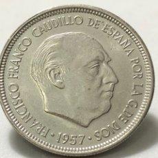Monedas Franco: EXCELENTE MONEDA DE 5 PESETAS DE 1957 ESTRELLA 73 -SC. Lote 245990250