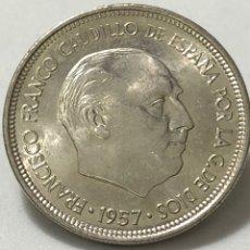 Monedas Franco: 5 PESETAS DE 1957 CON ESTRELLA DEL 71 , SIN CIRCULAR CON PEQUEÑO ERROR EN EL REVERSO.. Lote 246006075