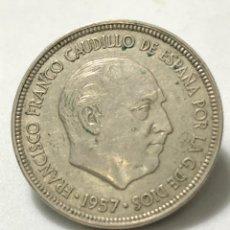 Monedas Franco: MONEDA DE 5 PESETAS DE 1957 CON ESTRELLA DEL 59. Lote 246006670