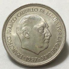 Monedas Franco: EXCELENTE MONEDA DE 5 PESETAS DE 1957 ESTRELLA 74 SIN CIRCULAR. Lote 246008910