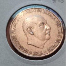 Monedas Franco: MONEDA 100 PTAS 1966 *68 -PLATA. Lote 246011295
