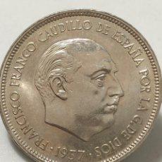 Monedas Franco: MONEDA DE 25 PESETAS DE 1957 ESTRELLA DEL 72 - SC. Lote 246281265