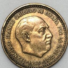 Monedas Franco: 1 PESETA DE 1953 ESTRELLA DEL 62 EBC. Lote 247432550