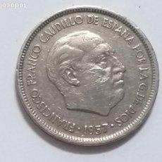 Monedas Franco: MONEDA ESPAÑA. 5 PESETAS. DURO. AÑO 1957. ESTRELLA 73. FRANCO.. Lote 248023280
