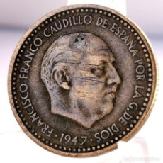 Monete Franco: ⚜️ 1 PESETA 1947 *51. AB736. Lote 248739750