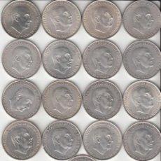 Monedas Franco: ESTADO ESPAÑOL: 17 MONEDAS - 100 PESETAS 1966 - PLATA - 223 GRAMOS. Lote 250182435
