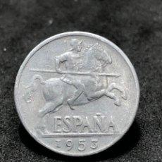 Monedas Franco: MONEDA DE 10 CÉNTIMOS DE 1953-BELLO EJEMPLAR-LANCEROS DE FRANCO. Lote 251609605