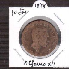 Monedas Franco: MONEDAS DE ESPAÑA ALFONSO XII AÑO 1878 10 CENTIMOS LA QUE VES. Lote 252060530