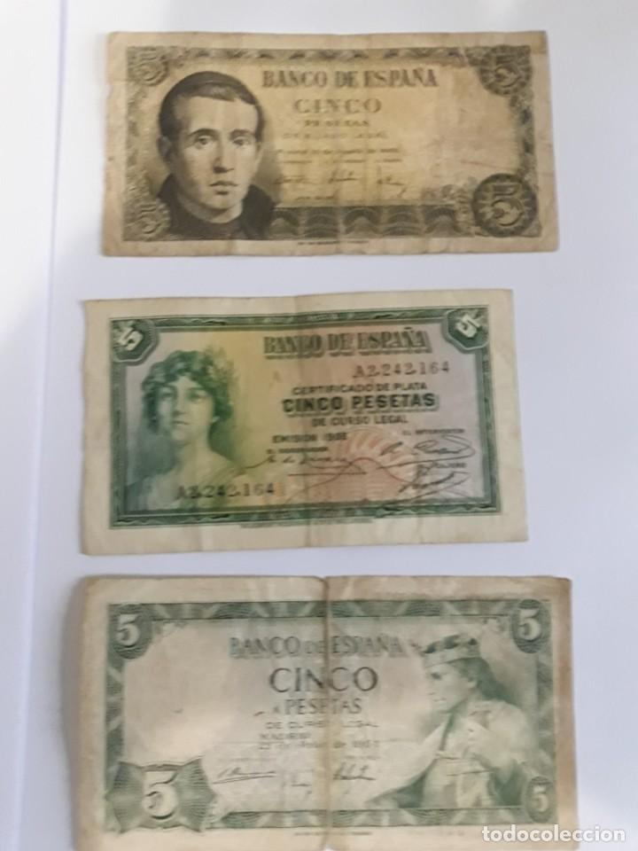 3 BILLETES DE 5 PESETAS DE 1935/1951/1954 (Numismática - España Modernas y Contemporáneas - Estado Español)