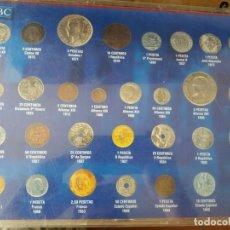 Monedas Franco: LA HISTORIA DE LA PESETA,COLECCIÓN DEL PERIÓDICO ABC,INCOMPLETA A FALTA DE UNA MONEDA. Lote 252215465