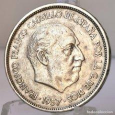 Monedas Franco: ⚜️ 25 PESETAS 1957 *61. AB963. Lote 252254310