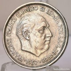 Monedas Franco: ⚜️ 25 PESETAS 1957 *61. AB962. Lote 252254345