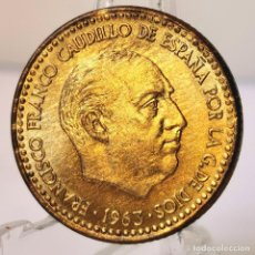 Monedas Franco: ⚜️ 1 PESETA 1963 *65. SIN CIRCULAR. PRECIOSA, CON METAL MAL BATIDO. AB936. Lote 252262845
