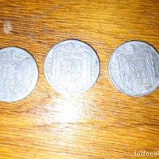 Monedas Franco: LOTE 3 MONEDAS DE DIEZ CÉNTIMOS EMISIONES 1940 1941 Y 1953 DESGASTADAS, VER FOTOS. Lote 252791365