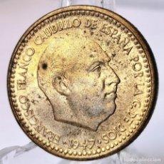 Monedas Franco: ⚜️ 1 PESETA 1947 *54. EBC / EBC+. ACUÑACIÓN ALGO DÉBIL PERO MUY BELLA. MUCHO BRILLO ORIGINAL. AC068. Lote 253043570