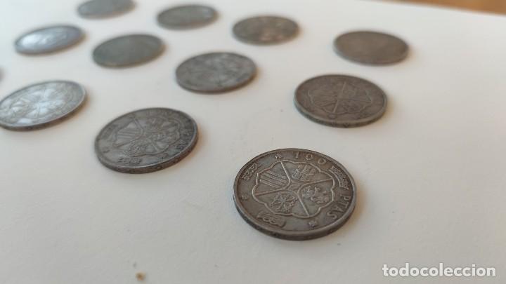 Monedas Franco: Lote de 12 monedas de 100 pesetas 1966 - Foto 2 - 253169845