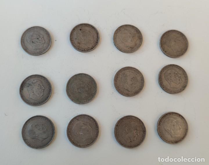 Monedas Franco: Lote de 12 monedas de 100 pesetas 1966 - Foto 3 - 253169845