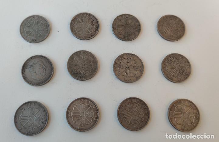 Monedas Franco: Lote de 12 monedas de 100 pesetas 1966 - Foto 4 - 253169845