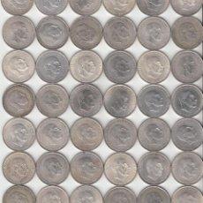 Monedas Franco: ESTADO ESPAÑOL: 42 MONEDAS - 100 PESETAS 1966 / PLATA. Lote 253956155