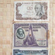 Monedas Franco: LOTE 3 BILLETES 100 PTAS.. Lote 253961480