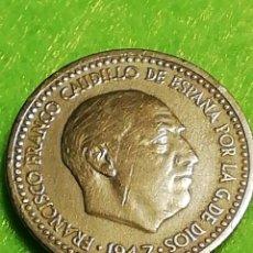 Moedas Franco: UNA PESETA 1947 ESTRELLA 49. MUY BIEN CONSERVADA. Lote 254103610