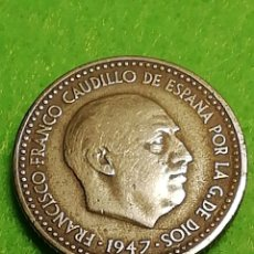 Moedas Franco: UNA PESETA 1947 ESTRELLA 49. MUY BIEN CONSERVADA. Lote 254103885