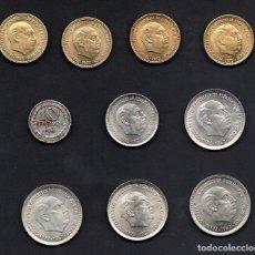 Monedas Franco: COLECCION - LOTE DE 10 MONEDAS DE FRANCO/REPUBLICA - ESTRELLAS TRUCADAS - TAPAR HUECOS. Lote 254265275