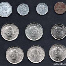 Monedas Franco: COLECCION - LOTE DE 10 MONEDAS DE FRANCO/REPUBLICA - ESTRELLAS TRUCADAS - PARA TAPAR HUECOS. Lote 254265545