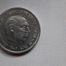 Monedas Franco: 1 MONEDA 5 PESETAS 1949 *49 DE FRANCO ESTADO ESPAÑOL. Lote 254363465