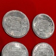 Monedas Franco: LOTE 6 MONEDAS 5 PESETAS 1949 ESTADO ESPAÑOL. ESTRELLA 50. Lote 254366110