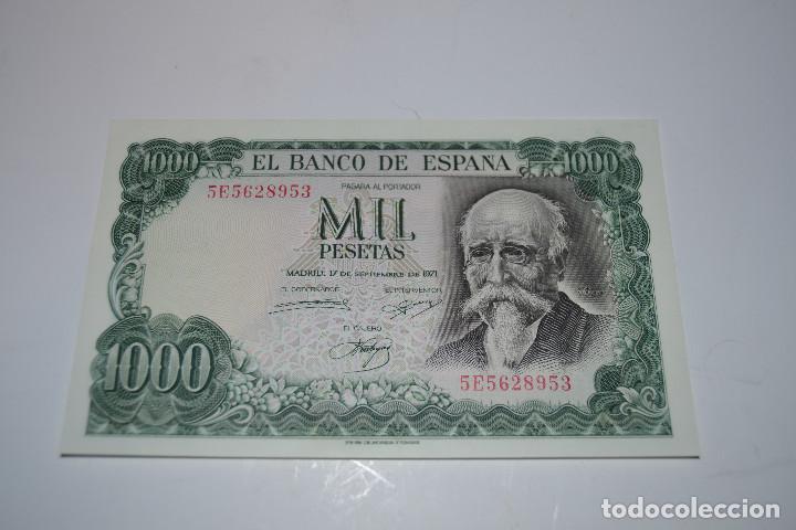 BILLETE DE 1000 PESETAS DE ECHEGARAY (Numismática - España Modernas y Contemporáneas - Estado Español)