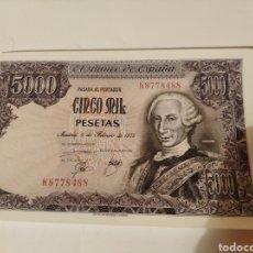 Monedas Franco: BILLETE DE 5000 PESETAS DE 1976. Lote 254460590