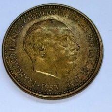 """Monedas Franco: FRANCO. 2,50 PTAS. - 1953 *54. TILDE EN LA """"C"""" DE CAUDILLO.. Lote 254648240"""
